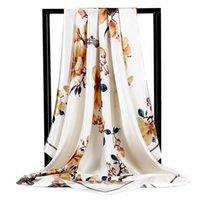 Summer Women Silk Foulard Scarves Square Scarf Ladies Luxury Brand beach Shawl Bandanna Large Hijab muffler female