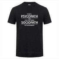 Odzież Im nie a Męskie Koszulki Psychopata High Functioning Sociopath Wykonaj swoje badania Drukowana śmieszna bawełniana koszula