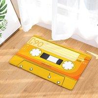 Türmatte Flanell Plüsch Vintage Kassettenband Indoor Fußmatte Rutschfeste Türboden Matten Teppich Teppiche Dekor Porch Doormat Tapete HHB6351