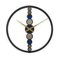 Роскошный творческий золотой минималистский современный дизайн гостиной северные крупные настенные часы домашнее декор 210414
