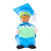 22 см Выпускной GNOME Кукла Прекрасная партия поставляет носить бакалаврную крышку карлики безликая игрушка домашний декор DHE6146