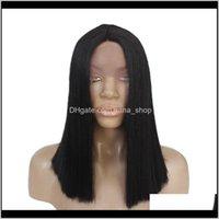 Perücken Haarprodukte Drop Lieferung 2021 Top Qualität geflochtene dunkle wurzeln ombre grau afroamerikaner flechten synthetische spitze frontperücke für frauen bv