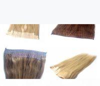 Lummy Brazilan человеческие волосы высочайшее качество 14 дюймов-30 дюймов Halo наращивание волос реальный бразильский человеческий флип в волосах наращивания волос 100 г Упаковка шелк прямой