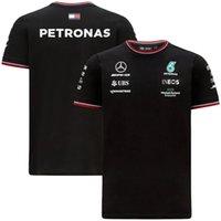 MERCEDES AMG PETRONAS F1 2021 EQUIPO POLO BLANCO BLANCO Camiseta Black Formula One Traje de carreras Mejor calidad Camisa