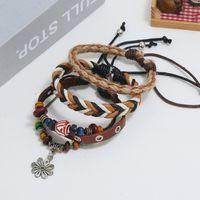 Charm Bracelets 2021 Fashion Multilayer Leather Bracelet Women Braided Handmade Star Rope Wrap & Bangles Female Birthday Gift