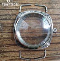 Cassa dell'orologio lucidato a mano scolpita da 47mm 316L per ETA 6497/6498 Kit di strumenti di riparazione del movimento