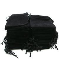 5 * 7cm Velvet Sac de cordon de cordon de cuillère Bijoux Tirez sur corde Sacs cadeau Christmas de Noël Pochette Flanellette 4 Couleur 0 3YS G2