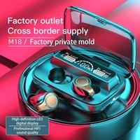 Headphones & Earphones M18 Wireless Headphone Bluetooth 5.1 Smart Digital Display 9DStereo Sports Waterproof Earbuds Headsets With Microphon
