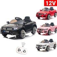 12 V çocuk araba sürüş araba çocuğun elektrikli araba 3-6 yaş arası hediye için uzaktan kumanda ile 3 hız modları siyah / pembe / beyaz / kırmızı