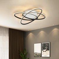 Tavan Işıkları Mdwell Nordic Lamba Modern Oturma Odası Yatak Odası Çalışma için LED LED Siyah Yaratıcı AC90-260 V
