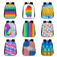 Kids Students School Bag Teenage Backpack 3D Sensory push Fidget Toys Finger Print Shoulder Bags Sport Book Pack Cartoon Rucksack-TOPN795