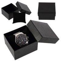 Fashion Black Watch Jewelry Gift Box High Quality Mens Display Organizer Wristwatch Party Supplies Wrap