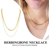 Chains Herringbone Choker Necklace, Layered Snake Chain Necklace For Women ,stainless Steel No Fade Stacked Minimalism Jewerly