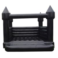 Portable Inflatable Black Bounce House Wedding Bouncy Castle Jumping Tent With Air Blower For Party Event