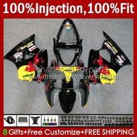Spritzgusskörper für Kawasaki Ninja 600CC ZZR600 05 06 07 08 Karosserie 38HC.57 100% Fit ZZR-600 600 CC 05-08 ZZR 600 2005 2006 2007 2008 OEM Verkleidung KIT gelb rot schwarz