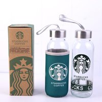 Factory Price 300ML Starbucks Water Mugs Coffee Juice Mug Glass Material Skinny Tumbler Simple Design Gift Product