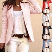 Womens Blazer Autumn Hot Sales Women Elegant Business Coat Slim Suit Fashion Solid Color Long Sleeve Jackets