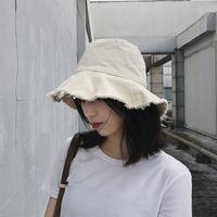 Hats Bucket Hat Fisherman's Female Summer Versatile Soft Girl Literature and Art Small Fresh Basin Sunscreen{category}