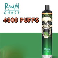 free ship RANDM GHOST 4000puffs cigarettes Disposable pod Kit Prefilled 10ml Cartridge rgb light fast delivery