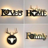 Wall Lamp Modern Led Lights Indoor Lighting Deer Sconce Light Bedroom Mirror Creative Stair For Living Room Decor