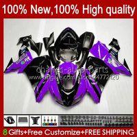 Bodywork For KAWASAKI NINJA ZX1000CC ZX 10R 10 R 1000 CC 2006 2007 Body 14No.101 1000CC ZX1000C 2006-2007 ZX-10R ZX1000 ZX10R 06 07 Motorcycle Fairing Kit purple glossy