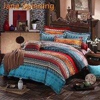 مجموعات الفراش البوهيمي طباعة 3d المعزي ماندالا لحاف الغطاء مجموعة الشتاء ملاءات وسادة الملكة الملك الحجم السرير السرير السرير