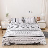 Geometric Simple Nordic Home Bedding Set Duvet Covers Queen King Size 200x230 Bed Linens Quilt Cover Bedspreads Bedclothes