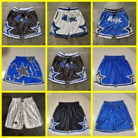 Mens Orlando.MagieBasketball Shorts Nur Don Pocket Basketball genäht Hardaway Tracy 1 McGrady 32 O'Neal Penny Retro Hose