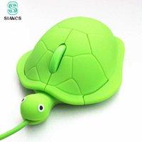 Siancs Mini Sevimli Kawaii Kablolu Fare 2.0 USB 3D Kaplumbağa Hayvan PC Bilgisayar Gamer Güzel Kaplumbağa Komik Hediye Y0703