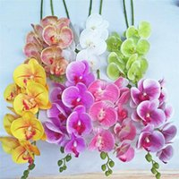 Decorative Flowers & Wreaths 12Pcs Good Qualit Butterfly Orchid 7 Heads Real Touch Phalaenopsis Orchids Latex For Wedding Artificial Flower