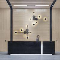 الحديثة الصمام الكرة الزجاجية الذرية luz باريد الإنارة الجدار ضوء lampara lampada كاميرا خزانة غرفة مصباح