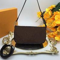 Mini Pockette Aksesuarları Tiny Omuz Çantaları Küçük Kılıfı Altın Zincir Ile Sevimli Çantalar Çapraz Vücut Lüks Parçaları Mono Ebene Baskı Çanta Cüzdan Madeni Poşetler