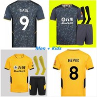 Kits pour adultes 21 22 Wolves Soccer Jerseys Neves Raul 2021 2022 Adama Fábio Silva Podence J.otto J.Moutinho Shirt de football Hommes + Kit Kit