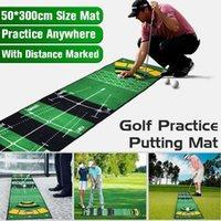 1 PCS Mini Golf Putting Ball Pad Tapete Prática Esteira Lavável Anti-Slip Interior Ao Ar Livre Treinamento Verde Auxiliares