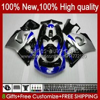 Body Kit For SUZUKI SRAD GSX-R600 GSXR 600CC 750CC 750 600 CC 96 97 98 99 00 Bodywork 22No.105 GSXR600 GSXR-750 96-00 GSXR750 1996 1997 1998 1999 2000 Fairing Silvery blue