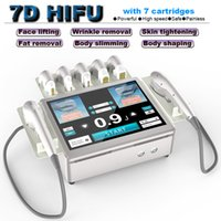 hifu lifting face tightening anti aging skin care facial wrinkle removal machine 7D body slimming shaping beauty equipment