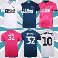 2020 Derby County Rooney Futbol Forması Ev Adulto Kit Kitleri Martin Lawrence Futebol Camisas 20/21 Derby County Bilgelik Waghorn Üniforme