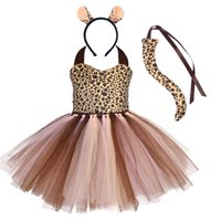 Cadılar bayramı çocuk sonbahar hayvan zebra karikatür inek kaplan elbise + saç bandı takım elbise moda kızın akşam parti cosplay elbiseler giyim şapkalar seti G86M7F8