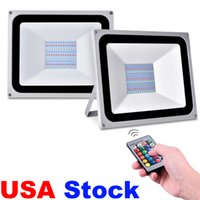USA Stock Outdoor Lighting Floodlights AC110V/220V 30W 50W 100W RGB LED Flood Lights Suitable For Wedding,Banquet,Party,Stage