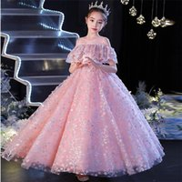 Girl's Dresses Children Girls High Quality Arrival Sweet Pink Color Birthday Wedding Party Princess Ball Gown Dress 3-12T Kids Piano