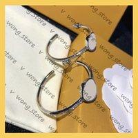Frauen Ohrringe Juwel Luxurys Designer Frau Ohrring Dame Geschenk Mode Designer Schmuck Pearl 21041501w