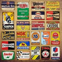 Vintage Alba Motor Oil Metal Signs Power Lube Gasoline Garage Decor Ampol Art Poster Wall Plaque YI-142a
