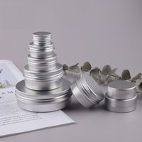 DHL Empty Aluminum Cream Jar Tin 5 10 15 30 50 100g Cosmetic Lip Balm Containers Nail Derocation Crafts Pot Bottle