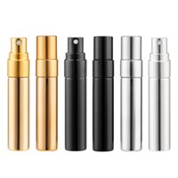 200pcs 5ml UV Gold Silver Black Perfume Atomizer Empty Travel Bottle Parfum Women Pocket Spray Refillable Glass Bottles High quality 4581 Q2