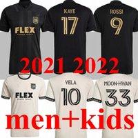 Homens + Kid Kit 21 22 Los Angeles FC Futebol Jerseys Chicharito Lafc Galáxia Rossi Vela 2021 2022 Inter Miami CF Beckham Pizarro Camisas de futebol