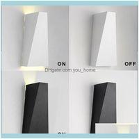 Duvar Deco El Malzemeleri Ev Gardenwall Lambası LED Aplik 10 W Alüminyum Yatakları Okuma Banyo Koridor Yüzey Montajı için Yukarı ve Aşağı Işıkları