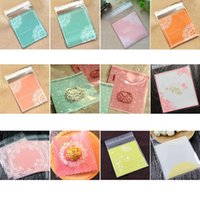100p Cake Candy Bags Cute Plastic Transparent Cellophane Cookie Gift For Biscuit Snack Baking Package Party Supplies 8z Wrap