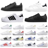 Clásico og stan smith superestrellas zapatos casuales moda triple negro blanco plata plataforma superstars hombres mujeres entrenadores deporte zapatillas deportivas