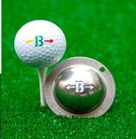 In acciaio inox Golf Ball Lineer Segnalatore Marcatore Segnale Disegno Strumento di messa a punto