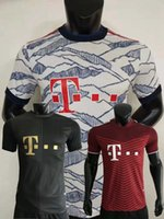 Jogador Versão 2021 2022 Bayern Sabitzer Soccer Jerseys Pavard Coman Zirkzee Hernandez Goretzka Neuer Muller Lewandowski Sane Kimmich 21 22 Futebol